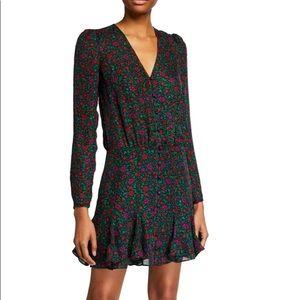 Riggins Long-Sleeve Floral Flounce Dress, size 8